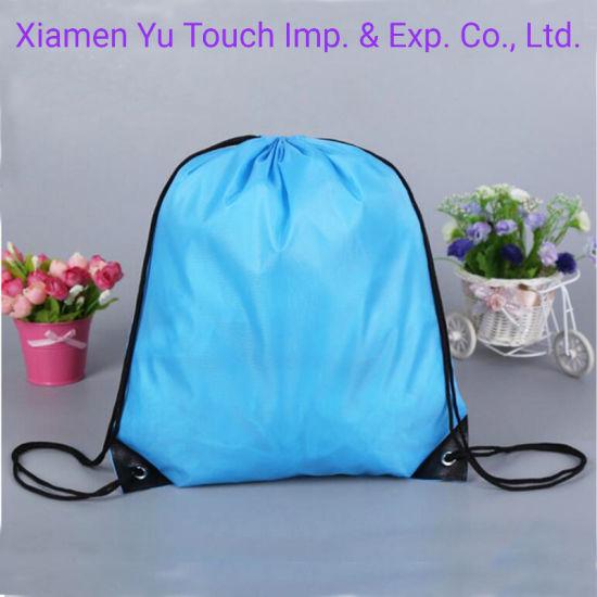 Wholesale Promotional Gift Bag Custom Printed Waterproof Sling Bag for Travel Polyester Nylon Drawstring Backpack Bags