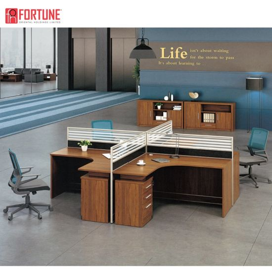 Office Furniture Outlet 13 Person MFC Office Partition Wood Office  Workstation