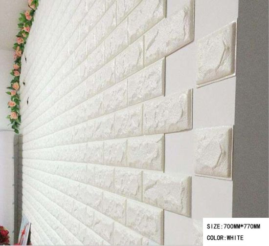 Anti-Corrosion Foam Brisk PE Foam Wall 3D PE Foam Wallpaper pictures & photos