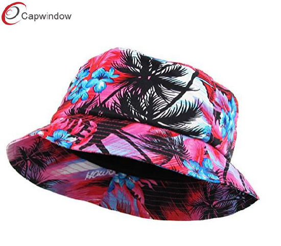 6b0d13ae38cabf China Hawaiian Floral Pattern Summer Bucket Hat Summer Cap for ...