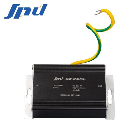 2 in 1 Power Supply and Video AC 220V 24V Rj 45 Signal Surge Protector
