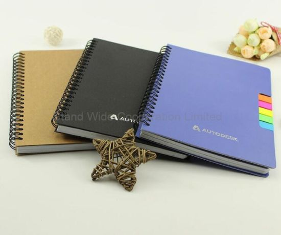 Spiral Notebook with Pet Stickers, Custom Stationery Memo Pad
