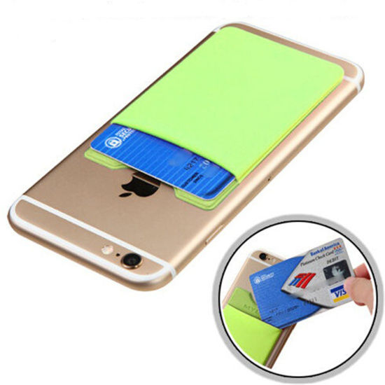 Elastic Lycra Cell Phone Wallet Case Credit ID Card Holder Pocket Stick on 3m Adhesive pictures & photos