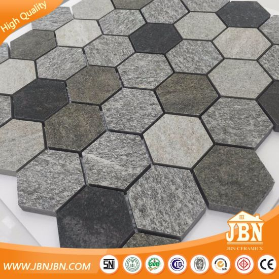 Wholesale Random Color Pattern Hexagon Porcelain Mosaic Wall Tile (W9555014)