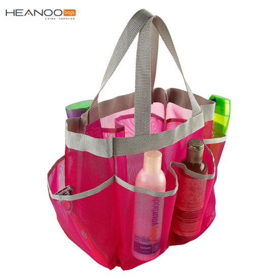 cc748f050 7 Pocket Travel Beach Quick Dry Tote Mesh Shower Caddy pictures & photos