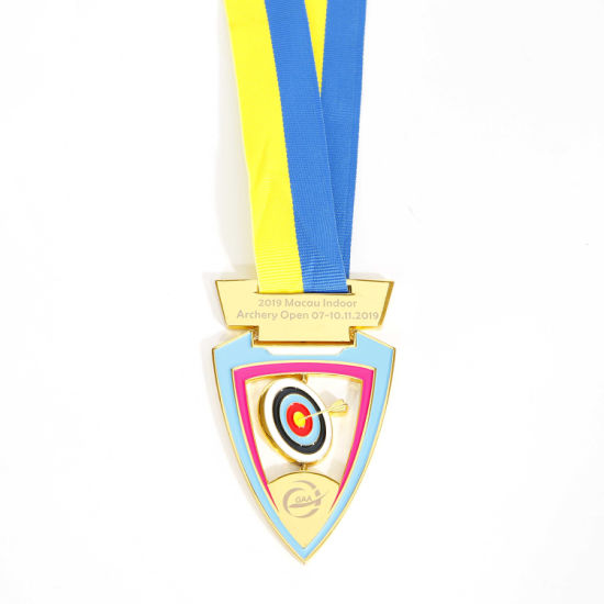 Promotional Gift Custom Design Honor Metal Running Sport Marathon Archery Medal
