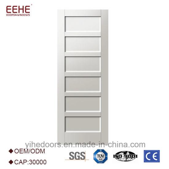 White Shaker Door With 6 Panel Teak Wood Door Interior Or Exterior