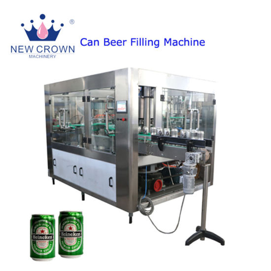 Competitive Price SUS304 500L Beer Canning Equipment/2000-3000bph Small Bottled Beverage Beer Canning Machine