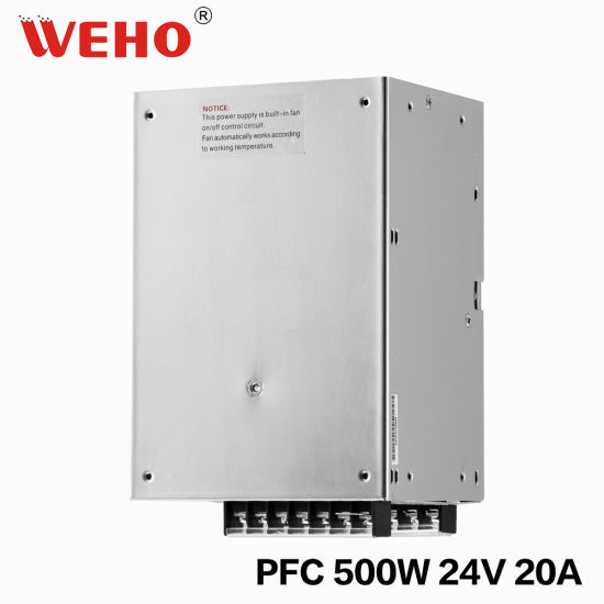 China Factory Price 500W 24V 20A SMPS with PFC Function - China ...