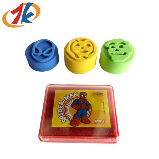 Promotional Kids Different Shape EVA Stampe with Plastic Ink Pad Toy
