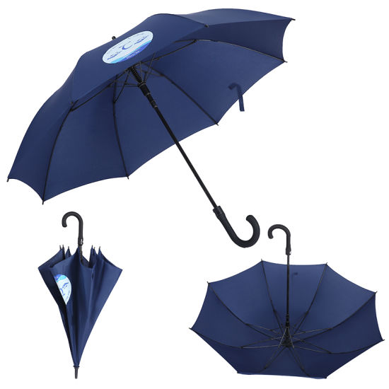 Cheap OEM 25inch 27inch 30inch Sun Golf Custom Printed Straight Gift Umbrella with J Handle