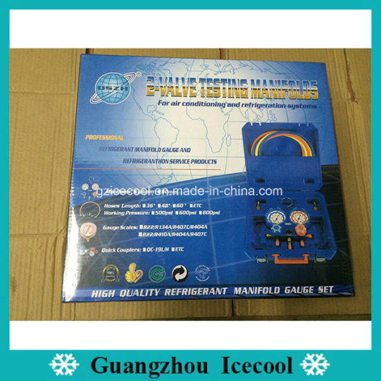 Dszh Refrigeration Part Wk-P6001s 2 Valve Testing R134A Pressure Gauge  Manifolds for Car Air Conditioner