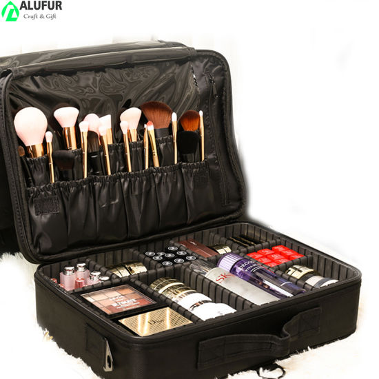 Professional Make up Train Case with Removable Dividers
