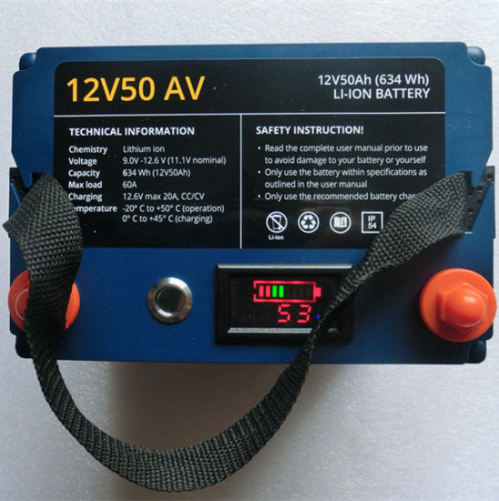 High Quality Lithium Battery Pack 11.1V 50ah for Analina Battery