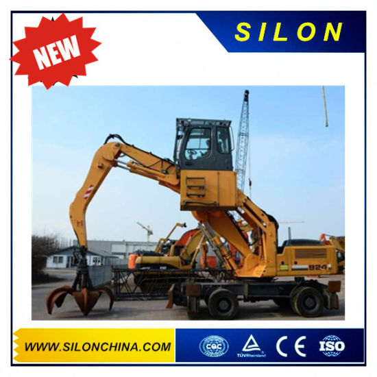 Silon Brand 24t Mini Wheel Excavator with Handling Scrap pictures & photos