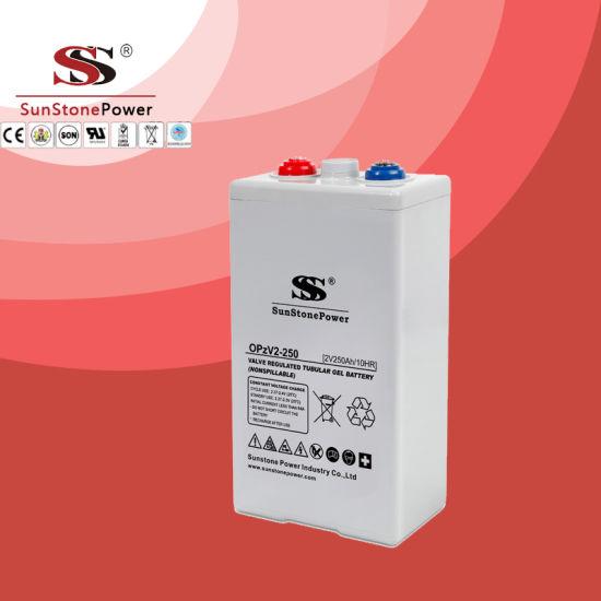 Tubular Lead Acid Battery Opzv 2V250ah for Solar System