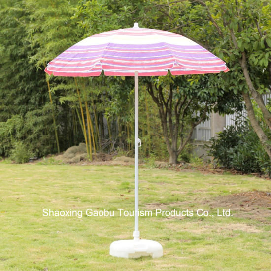 Steel Beach Umbrella with Tilt Made by No Woven pictures & photos