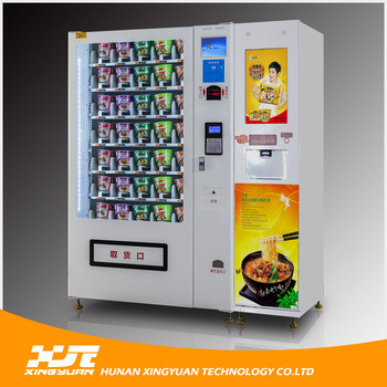 Instant Noodles Vending Machine with Hot Water Dispenser pictures & photos