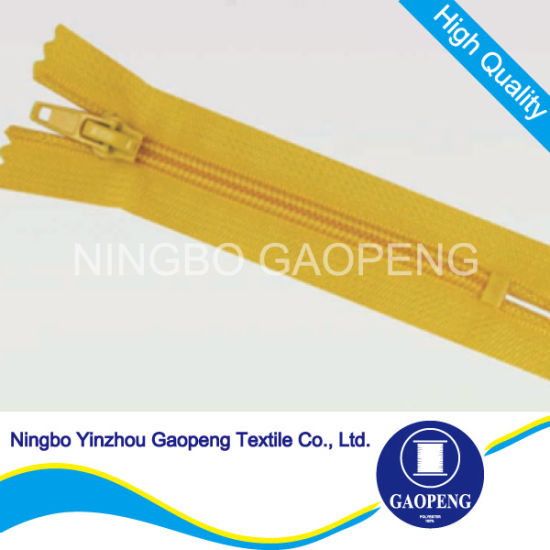 Closed End Nylon Zipper for Clothing/Garment/Shoes/Bag/Case pictures & photos