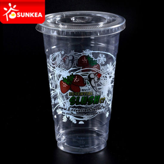 Plastic 32oz Smoothie Cups with Lids for Wholesale pictures & photos