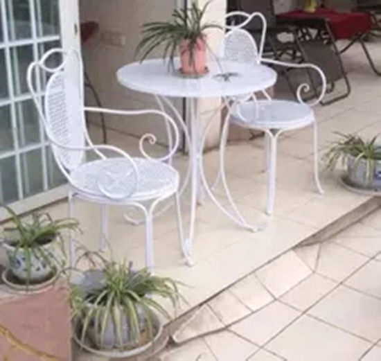 2016 New Wrought Iron Folding Chair Garden Furniture pictures & photos