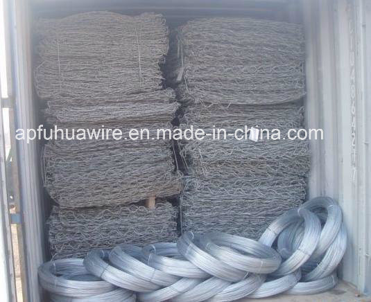 Hot Dipped Galvanized Gabion Baskets in Steel Wire Mesh