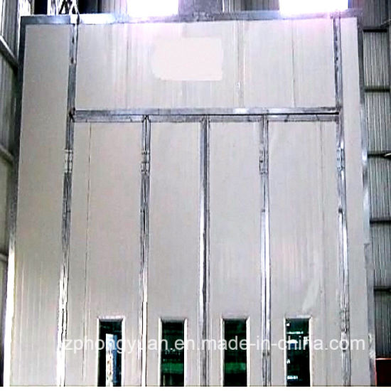 Bus Paint Booth with Intake and Exhaust Fan for Sale