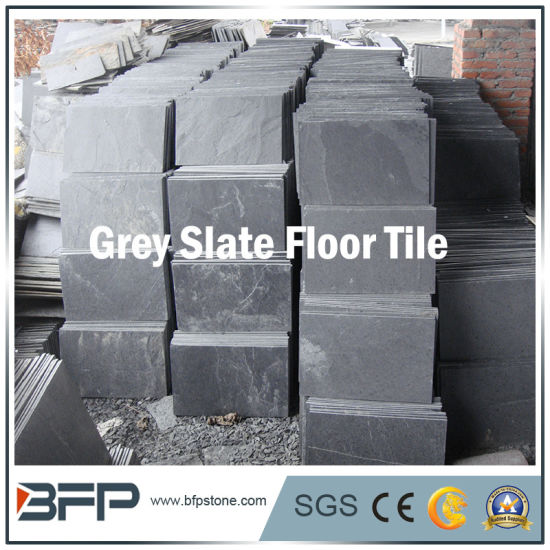 cutural stone floor tile grey slate for inside outside flooring wall panel home decoration