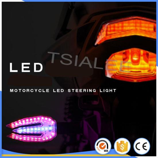 Motorcycle Bike Round LED Amber Turn Signal Blinker lights Indicator