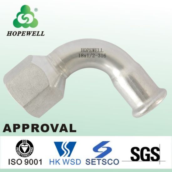 Sanitary Stainless Steel 304 316 Female Thread Elbow