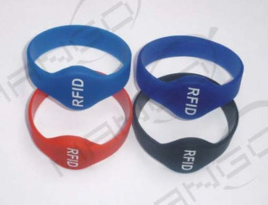 125kHz or 13.56MHz RFID Wristband Silicon Bracelet /Wristband Adjustable pictures & photos