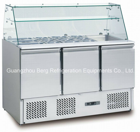 China Commercial Salad Counter Salad Prep Table Fridge With Ce - Commercial prep table refrigerator