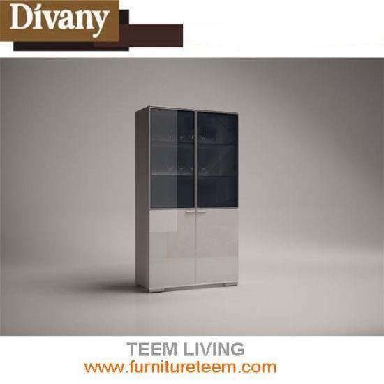 China Sm D37 Divany Modern Living Room Furniture High Glossy Wine