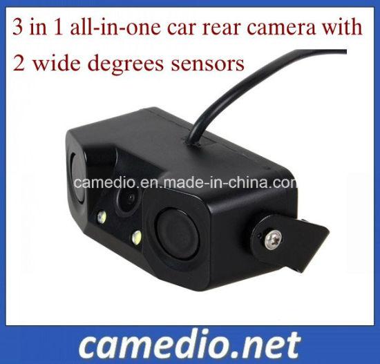 Rear View Video Parking Sensor 3 in 1 Car Camera and 2 Sensor with Bibi Alarm