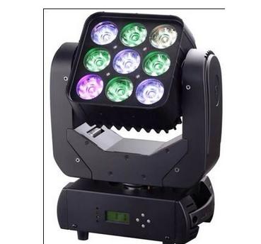 3X3 9pcsx10W RGBW LED 4in1 Shake Head Matrix Light