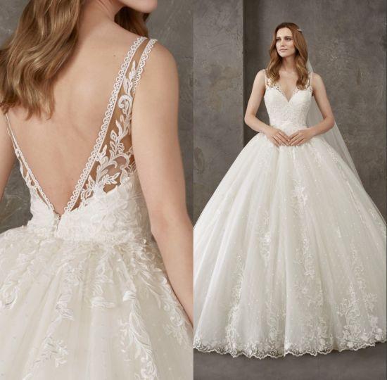 01b6c0649 China Sexy Elegant V Back Lace Ball Gown Bridal Wedding Dress Qh5517 ...