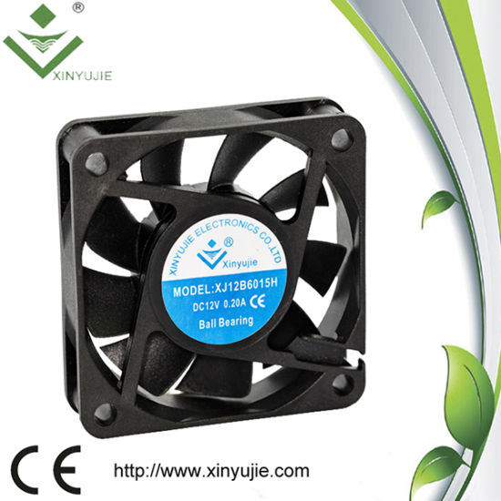 High Quality 60mm 6015 Ball Bearing 50u2032000 Hrs Lifespan Display Cabinets DC  Fan