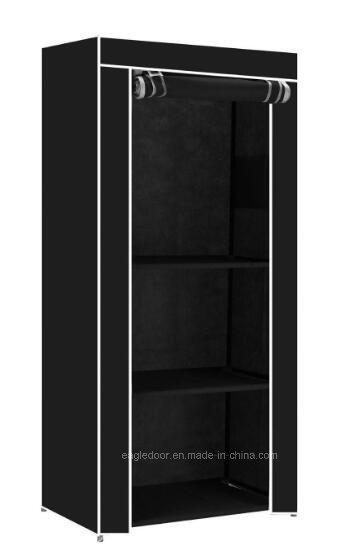 Single Fabric Canvas Clothes Wardrobe Cupboard Shelves Storage Organiser Hanging Fw 45b