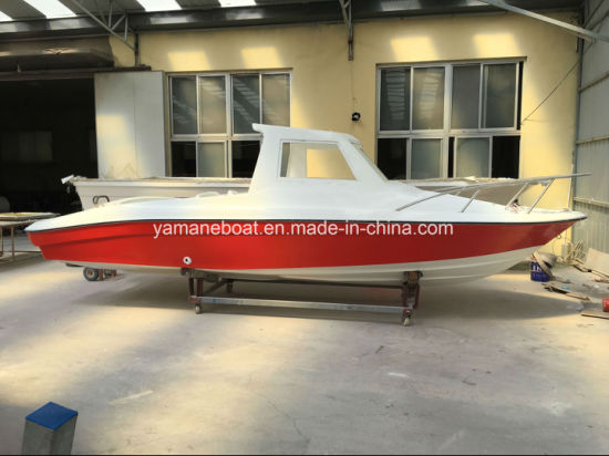 Enclosed GRP Motor Cabin Small Yacht for Fishing