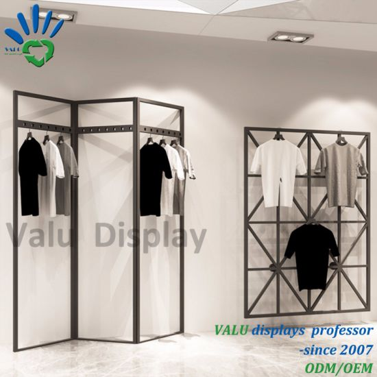 Exhibition Stand Clothes : China retail shop wall hanging metal iron garment rack