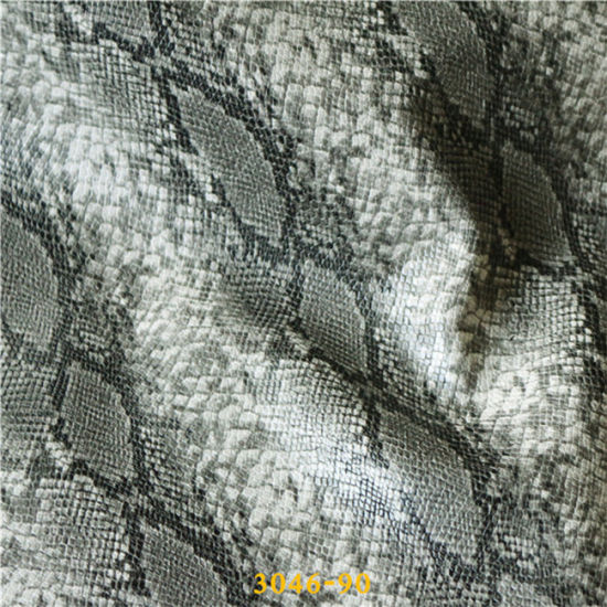 2016 Newest Snake Embossed PU Artificial Leather Made in China pictures & photos