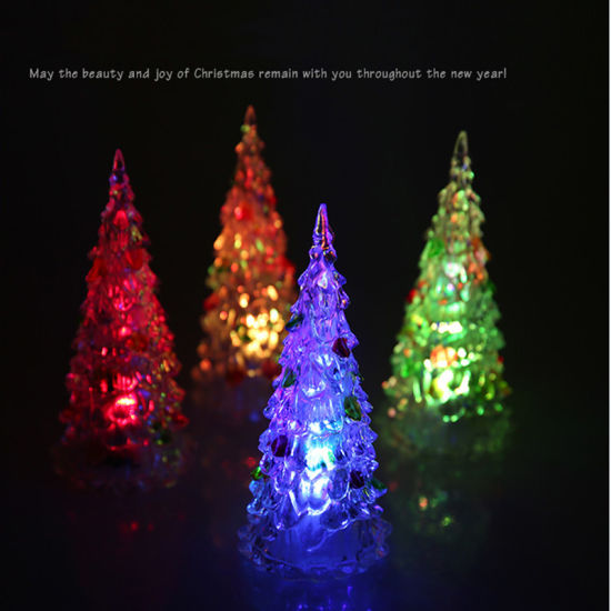 Christmas Tree Color Changing LED Crystal Night Festival ...