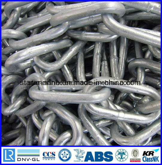 China Marine Buoy Chain with ABS, Lrs, BV, Nk, Dnv, Rina, Rmrs, Gl, Irs,  CCS Certificate - China Friciton Chain, Studless Anchor Chain