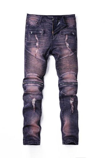 47dcb89f06f53 Custom Fashion Stock Wholesale 70% Cotton 30% Spandex Ladies Women′s Skinny  Ripped Denim Jeans