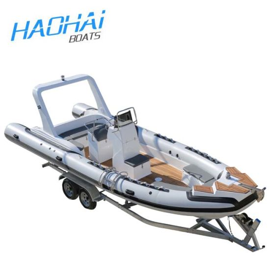 25FT 7.6m Rib Boat with Front and Back Cabin with Cushions (RIB760)