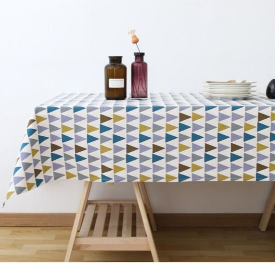 Nordic Type Triangle Geometry Graphics Household Tablecloth