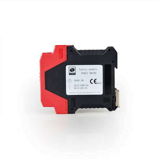 safety relays txas1-3012 24vdc used for emergency stop and safety gate
