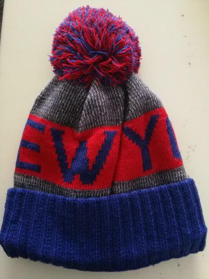 59241c685 USA Football Team New York Warm Winter Fashion Cap Hip-Hop Knit Beanie Hats  Women s ...