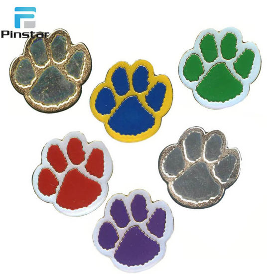Wolf Paw Print Lapel Pin Badge in Gift Bag  NEW