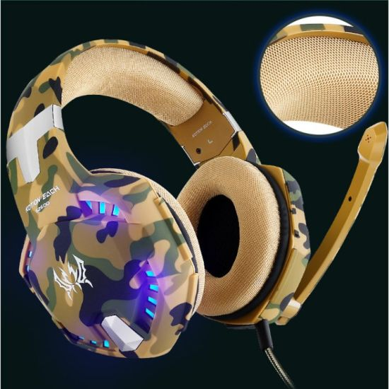 Kotion Each G2600 Over Ear Headphones with Mic and Volume Control, Stunning  LED Lights for Laptop/PS4 xBox One
